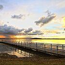Murrays Beach Jetty by Tam  Locke