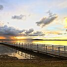 Murrays Beach Jetty by Tam  Locke