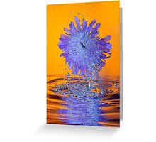Scabious with Bubbles and Reflection Greeting Card