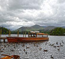 Derwentwater Boat Scene by DavidWHughes
