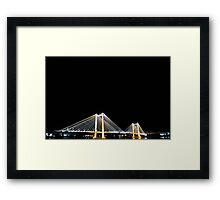 Cable Bridge - Color Framed Print