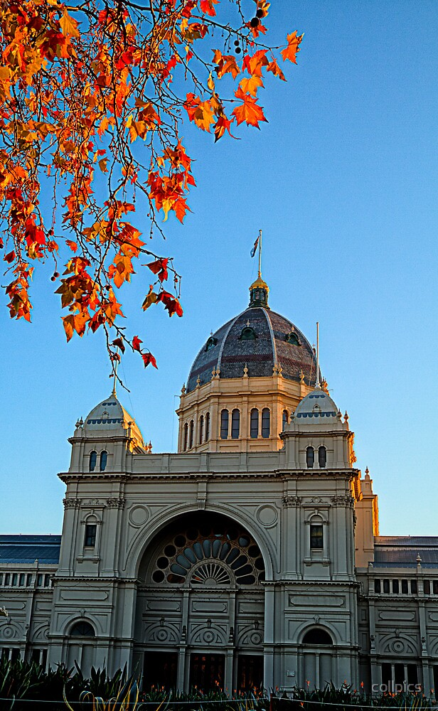 Old Melbourne exhibition building by collpics
