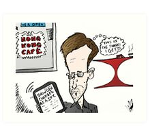 Edward Snowden Charged Caricature Art Print