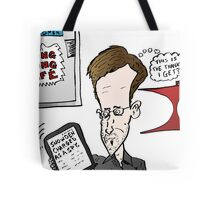 Edward Snowden Charged Caricature Tote Bag