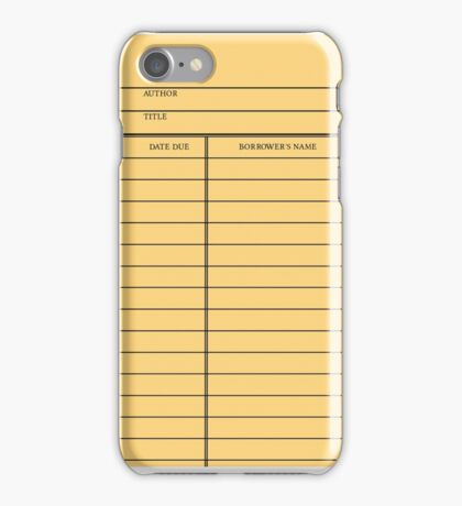 Vintage Library Card - Yellow Gold iPhone Case/Skin