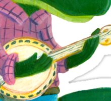 The Banjo Alligator Sticker