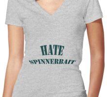 Hate Spinnerbait Women's Fitted V-Neck T-Shirt