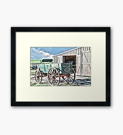 Midwest Buggy and Barn Framed Print