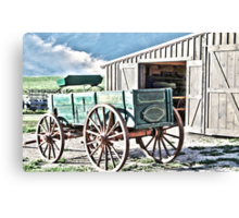 Midwest Buggy and Barn Canvas Print