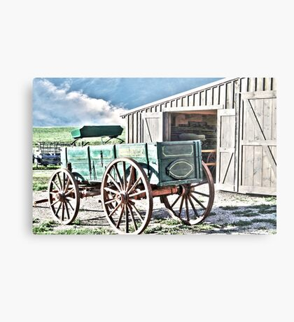 Midwest Buggy and Barn Metal Print
