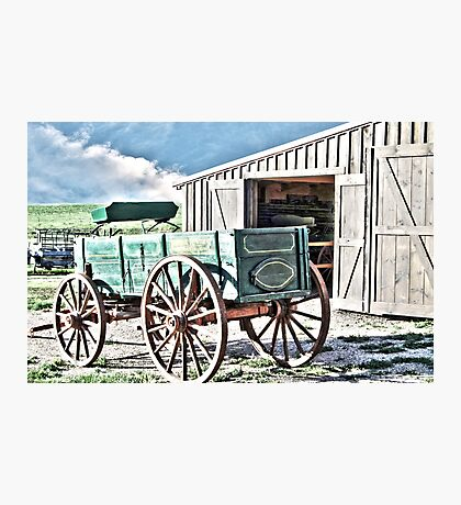 Midwest Buggy and Barn Photographic Print