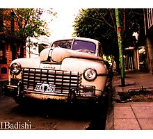 Old Classic Dodge, on the Streets of Buenos Aires Photographic Print