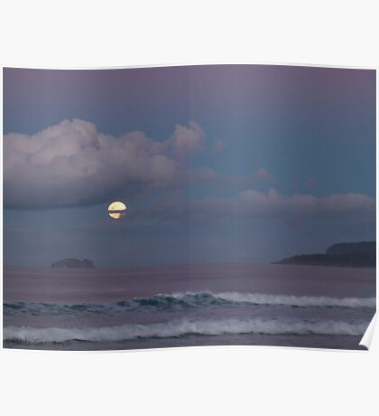 Marion Bay Moon Poster