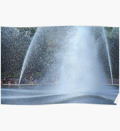 Enjoying The Fountain Poster