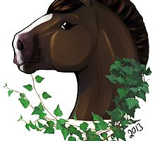 Draft Horse with Ivy by Liz Staley