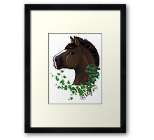 Draft Horse with Ivy Framed Print