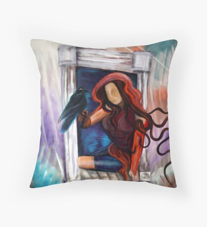 Ravens Wish Throw Pillow