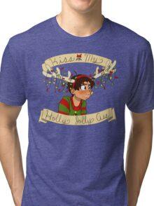 Kiss my Holly Jolly Ass Tri-blend T-Shirt
