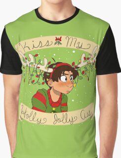 Kiss my Holly Jolly Ass Graphic T-Shirt