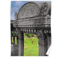 Looking Inside a Headstone Poster