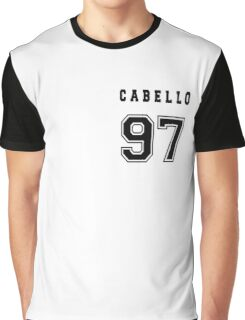 CABELLO - 97 // Black Text Graphic T-Shirt