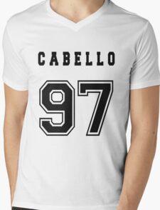 CABELLO - 97 // Black Text Mens V-Neck T-Shirt