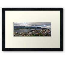 Alesund Panorama Framed Print