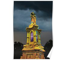 Stormy Tower in Yellow Poster