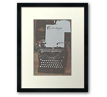 The Happy Writer Framed Print