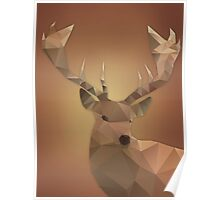 Polygon Deer Poster