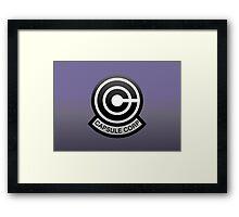 DBZ - Capsule Corp Logo Framed Print