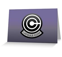 DBZ - Capsule Corp Logo Greeting Card
