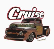Rat Rod Pickup Cruise T-Shirt Kids Tee