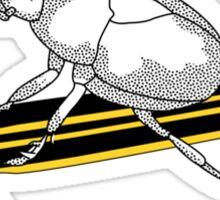 Skateboarding Beetle Sticker