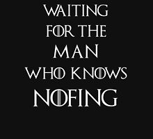 Jon Snow Waiting for the man who knows nothing Women's Fitted Scoop T-Shirt