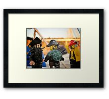 Pirate Practice: Bagpipe Playing Framed Print