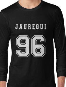 JAUREGUI - 96 // White Text Long Sleeve T-Shirt