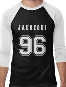 JAUREGUI - 96 // White Text Men's Baseball ¾ T-Shirt