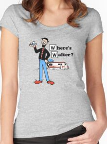 Where's Walter. Women's Fitted Scoop T-Shirt