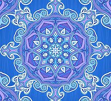 Ornate blue waves pattern by 1enchik