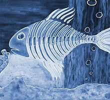 Blue Bonefish - Mixed Media by Melissa Rogers