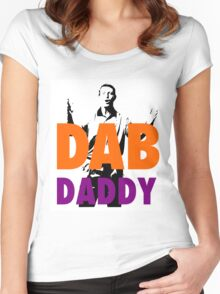 THE REAL DAB DADDY Women's Fitted Scoop T-Shirt