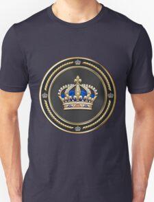 Royal Crown of France over Blue Velvet Unisex T-Shirt