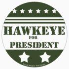For President Hawkeye by Traci VanWagoner