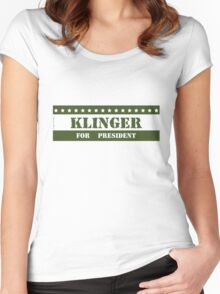 For President Klinger Women's Fitted Scoop T-Shirt