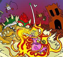 Conflagration in the Mushroom Kingdom by ShotgunZen