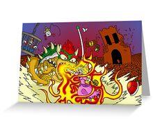 Conflagration in the Mushroom Kingdom Greeting Card