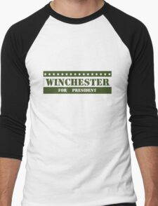 For President Winchester Men's Baseball ¾ T-Shirt