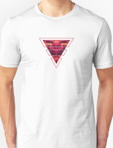 Abstract red geometric triangle texture pattern design (Digital Futrure - Hipster / Fashion) Unisex T-Shirt