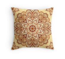 Ornate vintage vector napkin Throw Pillow
